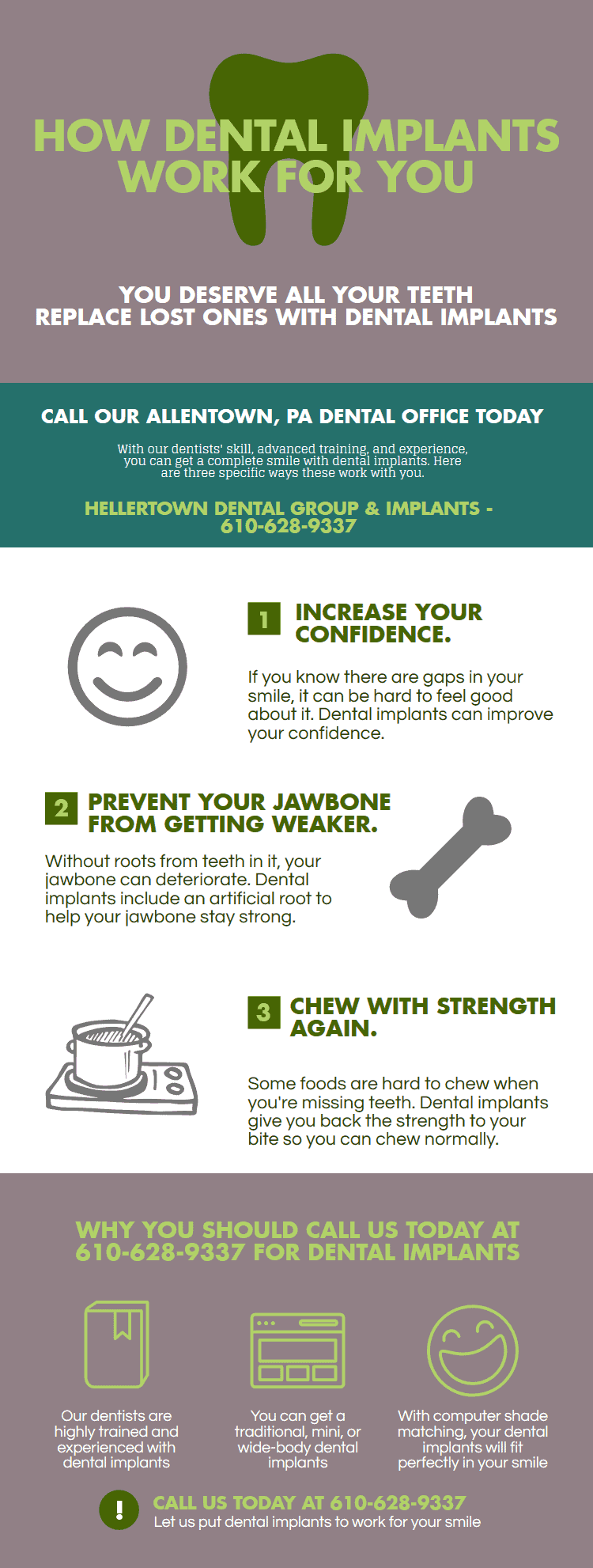 3 Reasons Dental Implants Work For You